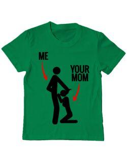 Tricou ADLER copil Me your mom Verde mediu
