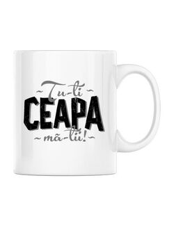 Cana personalizata Ceapa ma-tii Alb