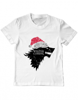 Tricou ADLER copil Christmas is coming Alb