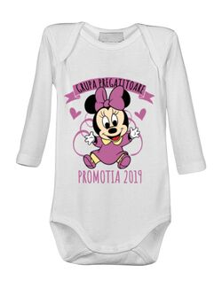 Baby body Absolvire Minnie Mouse Alb