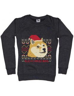 Bluza ADLER dama Doge christmas Negru melanj