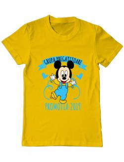 Tricou ADLER barbat Absolvire Mickey Mouse Galben