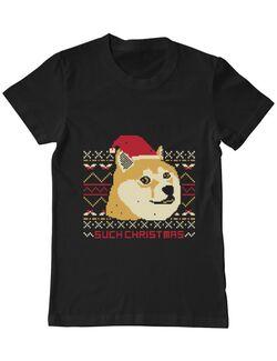 Tricou ADLER barbat Doge christmas Negru