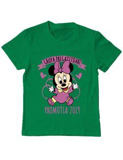 Tricou ADLER copil Absolvire Minnie Mouse Verde mediu