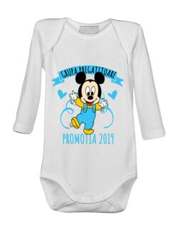 Baby body Absolvire Mickey Mouse Alb