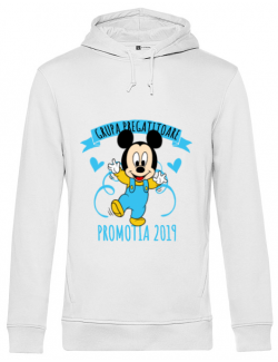 Hoodie barbat cu gluga Absolvire Mickey Mouse Alb
