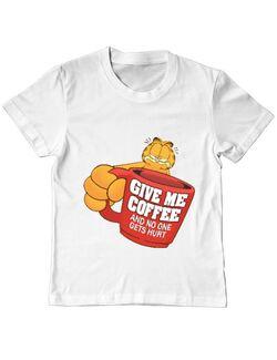 Tricou ADLER copil Give me coffee Alb