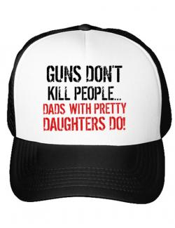 Sapca personalizata Guns dont kill Alb