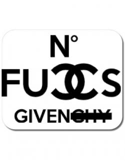 Mousepad personalizat No fucks given Alb
