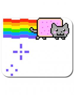 Mousepad personalizat Nyan cat Alb