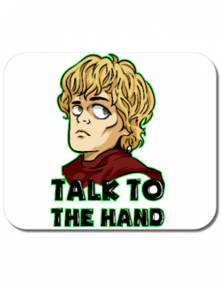 Mousepad personalizat Talk to the hand Alb