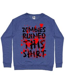 Bluza ADLER barbat Zombies Albastru melanj