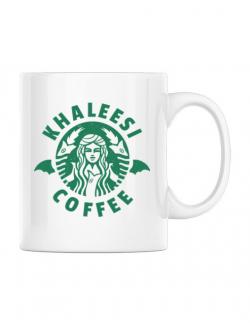 Cana personalizata Khaleesi coffee Alb
