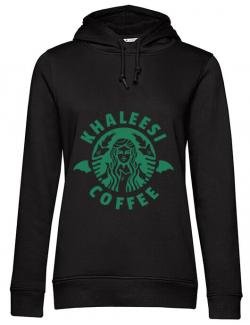Hoodie dama cu gluga Khaleesi coffee Negru