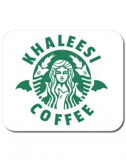Mousepad personalizat Khaleesi coffee Alb
