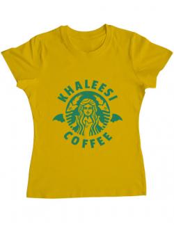 Tricou ADLER dama Khaleesi coffee Galben