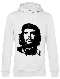 Hoodie barbat cu gluga Che Guevara Alb