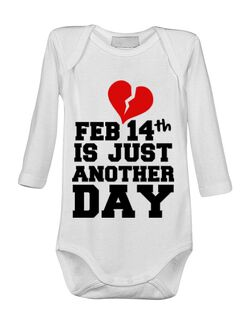 Baby body 14 Februarie Alb