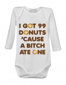Baby body 99 Donuts Alb