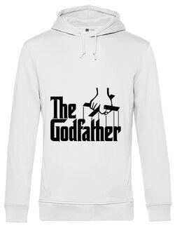 Hoodie barbat cu gluga The godfather Alb