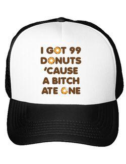 Sapca personalizata 99 Donuts Alb
