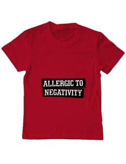 Tricou ADLER copil Allergic to negativity Rosu