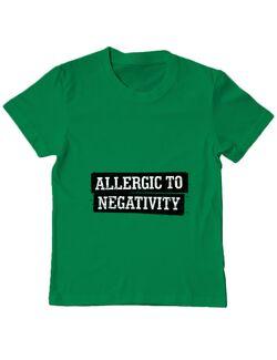 Tricou ADLER copil Allergic to negativity Verde mediu