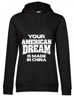 Hoodie dama cu gluga American dream Negru