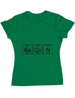 Tricou ADLER dama Bacon formula Verde mediu