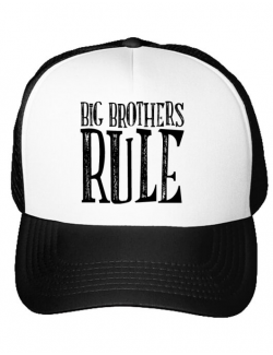 Sapca personalizata Big brothers rule Alb