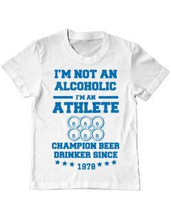 Tricou ADLER copil Beer champion Alb