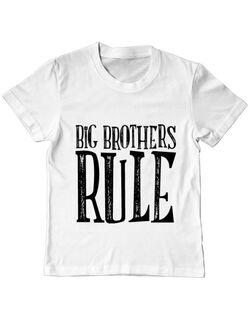 Tricou ADLER copil Big brothers rule Alb