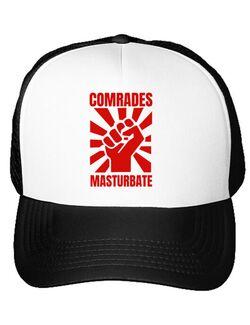 Sapca personalizata Burlaci Comrades masturbate Alb