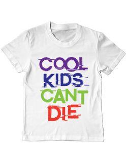 Tricou ADLER copil Cool kids Alb