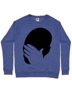 Bluza ADLER barbat Facepalm Albastru melanj