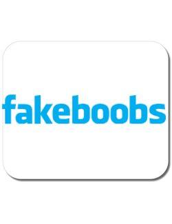 Mousepad personalizat Fakeboobs Alb