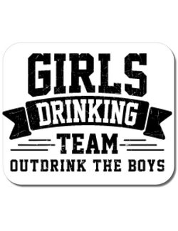 Mousepad personalizat Girls drinking team Alb