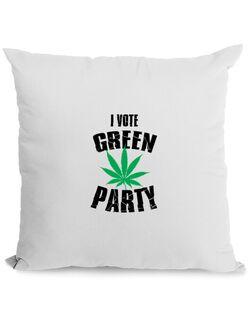 Perna personalizata Green party Alb