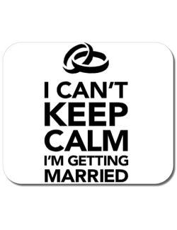 Mousepad personalizat I cant keep calm married Alb