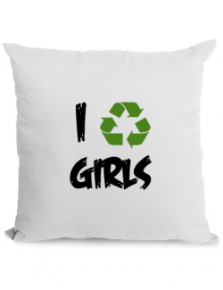 Perna personalizata I recycle girls Alb