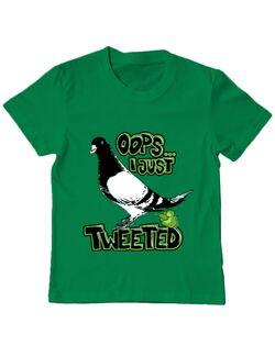 Tricou ADLER copil I just tweeted Verde mediu