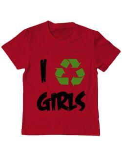 Tricou ADLER copil I recycle girls Rosu