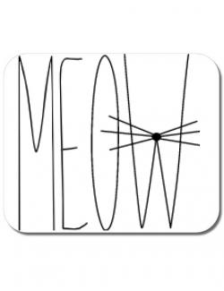 Mousepad personalizat I am a cat Alb