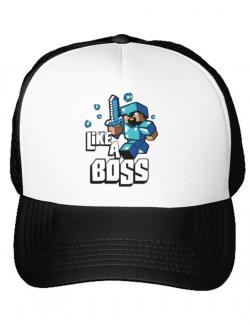 Sapca personalizata Like a boss Alb