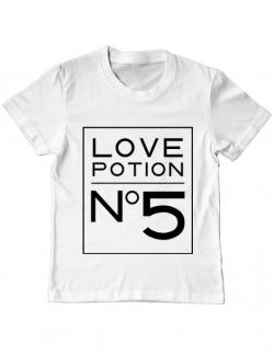 Tricou ADLER copil Love potion Alb
