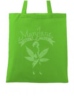 Sacosa din panza Mary Jane Verde mar