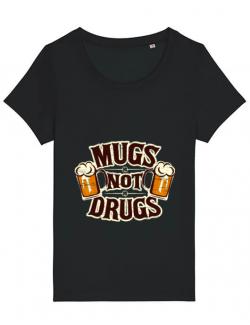 Tricou STANLEY STELLA dama Mugs not drugs Negru