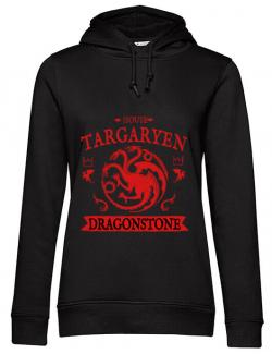 Hoodie dama cu gluga House Targaryen Negru
