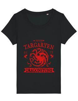 Tricou STANLEY STELLA dama House Targaryen Negru