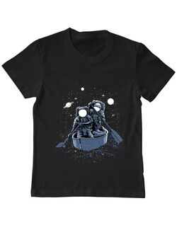 Tricou ADLER copil Across the galaxy Negru
